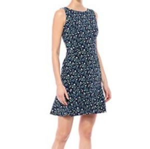 Lark and Ro Navy Trailing Floral Sleeveless 4